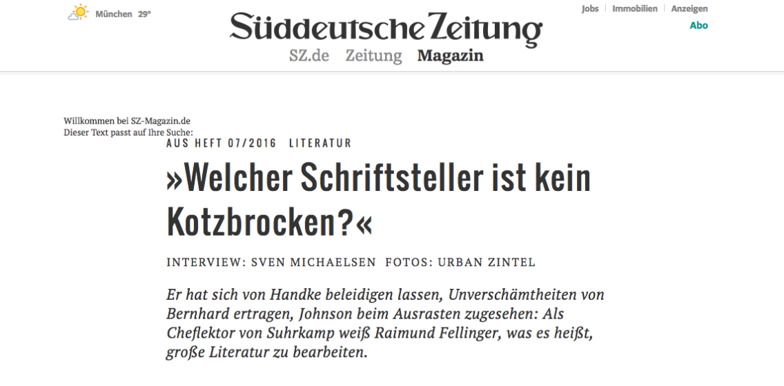 Screenshot: sz.de