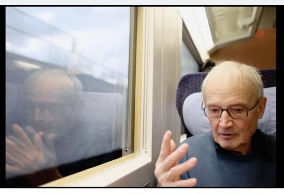 Auf dem Weg nach Göttingen mit Freund und Verleger Hans Meinke